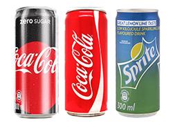 Menu soft drinks